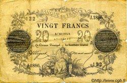 20 Francs 1871 FRANCE  1873 F.A46.04 B
