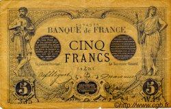 5 Francs NOIR FRANCE  1871 F.01.01 TTB