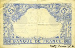 5 Francs BLEU FRANCE  1912 F.02.02 pr.SUP