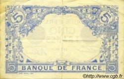 5 Francs BLEU FRANCE  1912 F.02.02 pr.SUP