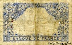 5 Francs BLEU FRANCE  1915 F.02.23 B à TB