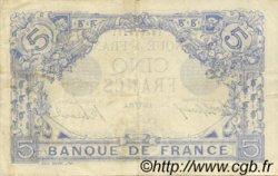 5 Francs BLEU FRANCE  1915 F.02.26 TTB+