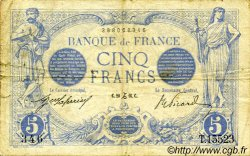 5 Francs BLEU FRANCE  1916 F.02.46 TB
