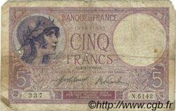 5 Francs VIOLET FRANCE  1919 F.03.03 B+