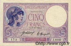 5 Francs VIOLET FRANCE  1920 F.03.04 TTB+