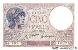5 Francs VIOLET FRANCE  1922 F.03.06 SPL