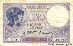 5 Francs VIOLET FRANCE  1923 F.03.07 TB+