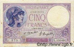 5 Francs VIOLET FRANCE  1923 F.03.07 TTB+