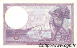 5 Francs VIOLET FRANCE  1924 F.03.08 pr.SPL