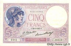 5 Francs VIOLET FRANCE  1927 F.03.11 SUP