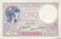 5 Francs VIOLET FRANCE  1928 F.03.12 SUP à SPL