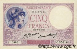 5 Francs VIOLET FRANCE  1928 F.03.12 TTB+