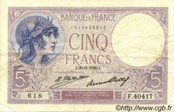 5 Francs VIOLET FRANCE  1929 F.03.13 TTB