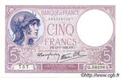 5 Francs VIOLET modifié FRANCE  1939 F.04.01 NEUF