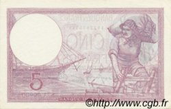 5 Francs VIOLET modifié FRANCE  1939 F.04.06 SPL