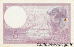 5 Francs VIOLET modifié FRANCE  1939 F.04.07 pr.SUP