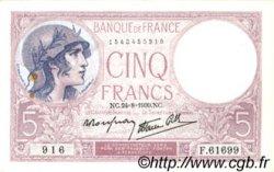 5 Francs VIOLET modifié FRANCE  1939 F.04.07 SUP