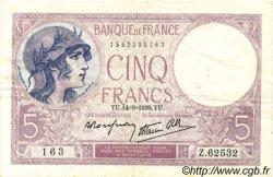 5 Francs VIOLET modifié FRANCE  1939 F.04.08 TB+