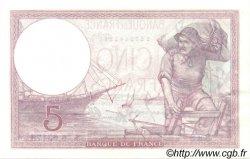 5 Francs VIOLET modifié FRANCE  1939 F.04.10 SUP+