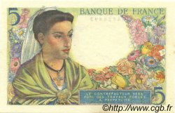 5 Francs BERGER FRANCE  1943 F.05.03 SPL+
