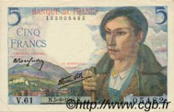 5 Francs BERGER FRANCE  1943 F.05.03 pr.SPL