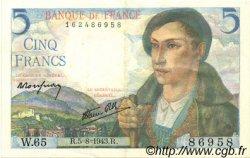 5 Francs BERGER FRANCE  1943 F.05.03 SUP