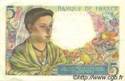 5 Francs BERGER FRANCE  1943 F.05.05 SUP+
