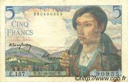 5 Francs BERGER FRANCE  1947 F.05.07 pr.SUP