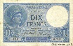10 Francs MINERVE FRANCE  1917 F.06.02 TB