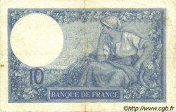 10 Francs MINERVE FRANCE  1917 F.06.02 pr.TTB