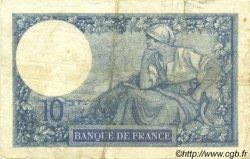 10 Francs MINERVE FRANCE  1918 F.06.03 pr.TTB