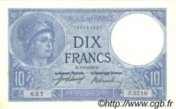 10 Francs MINERVE FRANCE  1918 F.06.03 SUP+