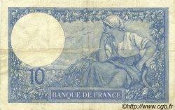 10 Francs MINERVE FRANCE  1921 F.06.05 TB+