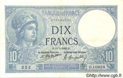 10 Francs MINERVE FRANCE  1923 F.06.07 SUP+