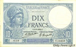 10 Francs MINERVE FRANCE  1924 F.06.08 pr.SUP