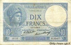 10 Francs MINERVE FRANCE  1926 F.06.11 pr.TTB
