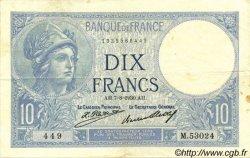 10 Francs MINERVE FRANCE  1930 F.06.14 TTB+