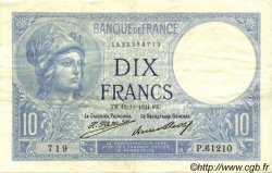 10 Francs MINERVE FRANCE  1931 F.06.15 SUP