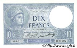 10 Francs MINERVE FRANCE  1936 F.06.17 SUP+ à SPL