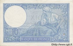 10 Francs MINERVE modifié FRANCE  1939 F.07 SUP