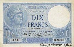 10 Francs MINERVE modifié FRANCE  1939 F.07.04 pr.SUP