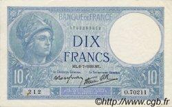 10 Francs MINERVE modifié FRANCE  1939 F.07.04 SUP