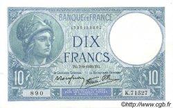 10 Francs MINERVE modifié FRANCE  1939 F.07.06 SUP+