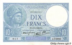10 Francs MINERVE modifié FRANCE  1939 F.07.14 pr.SPL