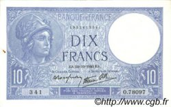 10 Francs MINERVE modifié FRANCE  1940 F.07.18 SUP