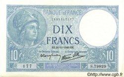 10 Francs MINERVE modifié FRANCE  1940 F.07.21 pr.SPL