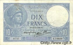 10 Francs MINERVE modifié FRANCE  1940 F.07.21 TB à TTB