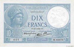 10 Francs MINERVE modifié FRANCE  1941 F.07.26
