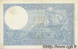 10 Francs MINERVE modifié FRANCE  1941 F.07.29 TTB+