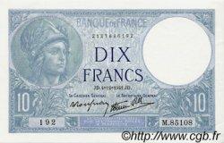 10 Francs MINERVE modifié FRANCE  1941 F.07.30 pr.NEUF